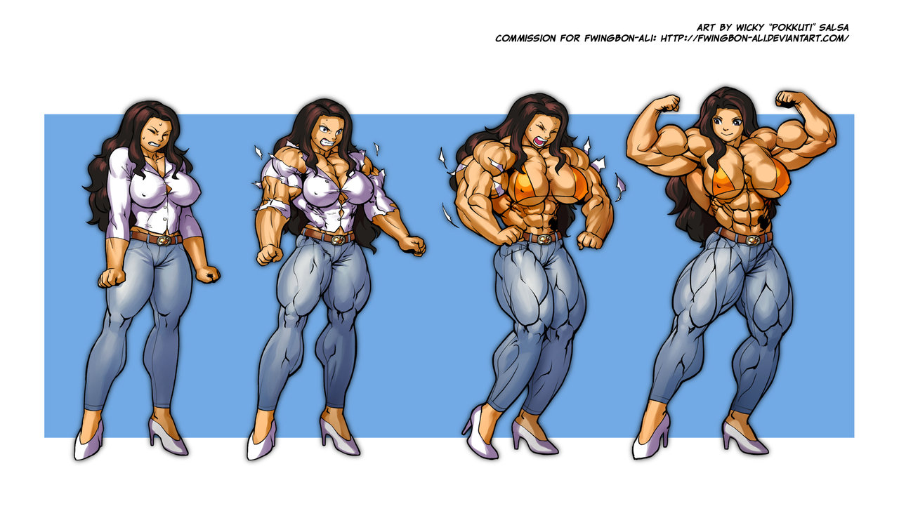 Muscle women anime erotic films